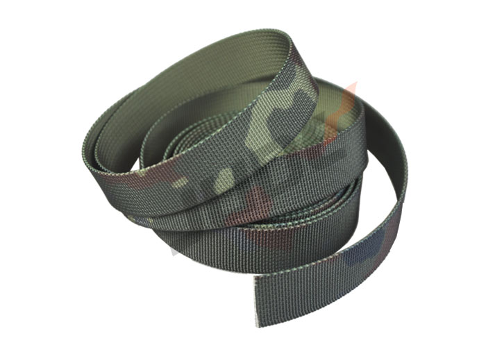 Customized Camouflage Webbing Four-Color Polyester 25mm