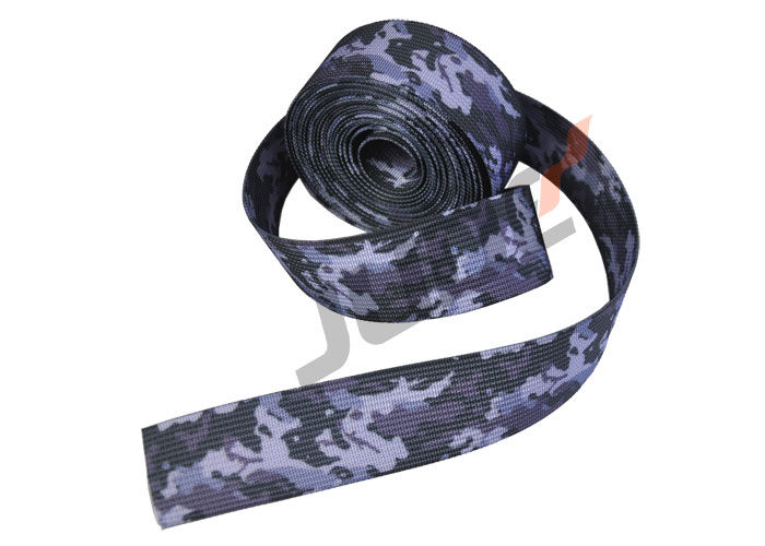 Custom Camouflage Webbing 4-Color Nylon 1 Inch