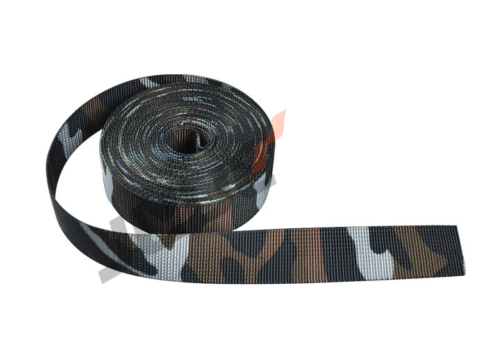 1 inch Jungle 3-Color Camouflage Webbing