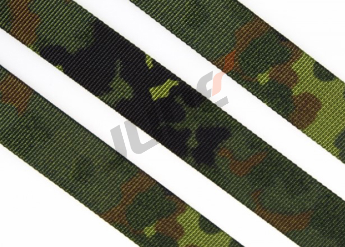 3/4 Inch German Flecktarn 4 Color Camouflage Webbing