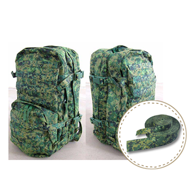 Singapore IRR camo flage webbing for SAF backpack - JUDE Webbing